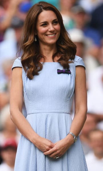 Kate Middleton Stands and Smiles