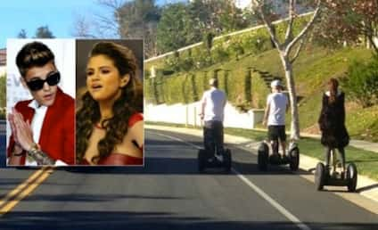 Justin Bieber and Selena Gomez: Spotted on Segways!