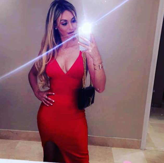corinne olympios in red   the hollywood gossip