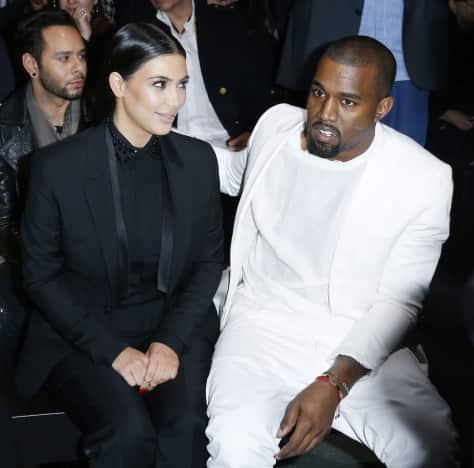 Kim Kardashian and Kanye West: Givenchy Autumn/Winter 2013 Show