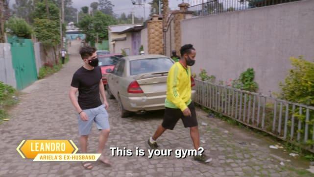 Leandro and Biniyam try to bond