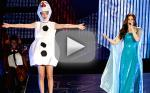 """Taylor Swift Dresses as Olaf, Sings """"Let It Go"""" with Idina Menzel"""