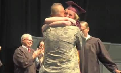 Deployed Dad Surprises Family at Daughter's Graduation: See the Emotional Video!