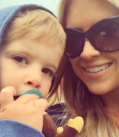 Christina El Moussa with Son