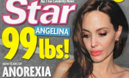 Angelina Jolie an Anorexic Heroin Addict, Tabloid Claims; Brad Pitt & Jen Aniston Reunite!