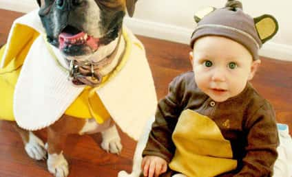 Dogs and Children Don Matching Halloween Costumes: Does It Get Any Cuter?!?