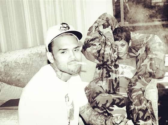 Chris Brown, Rihanna Twitter Pic