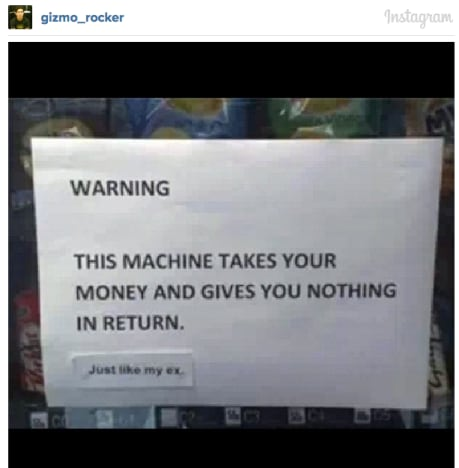 Hilarious Vending Machine Note