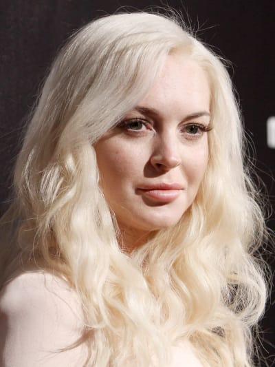 Lindsay Lohan at Golden Globes