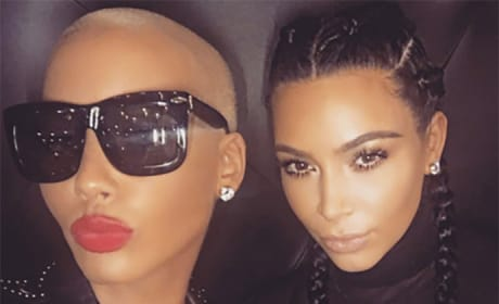 Amber Rose and Kim Kardashian Together Photo