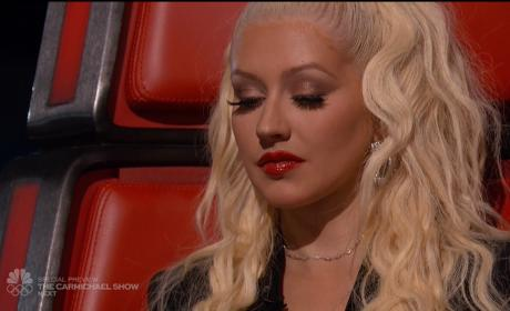 Christina Aguilera in The Voice chair