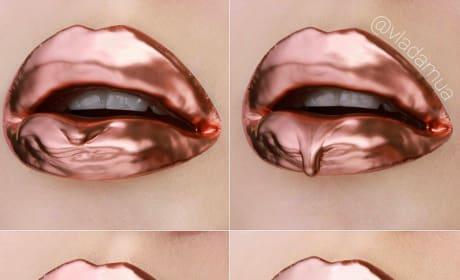 Kylie Jenner Lip Art Post