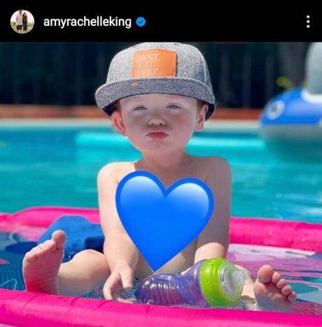 Amy Duggar IG edited photo of 21-month-old son Braxton