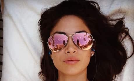 Nicole Johnson Beach Selfie