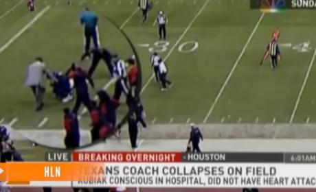Gary Kubiak Collapses During Houston Texans Game