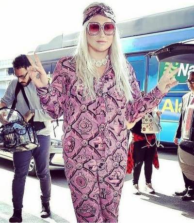 Kesha Serving a Purple Look
