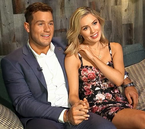 Cassie Randolph and Colton Underwood on ABC