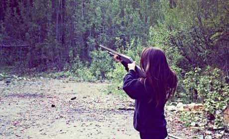 Bristol Palin Gun Photo