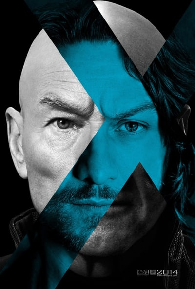 James McAvoy and Sir Patrick Stewart X-Men: Days of Future Past Poster