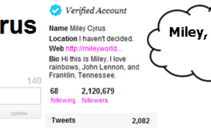 Fan to Miley Cyrus: Return to Twitter... or I Murder a Kitten!