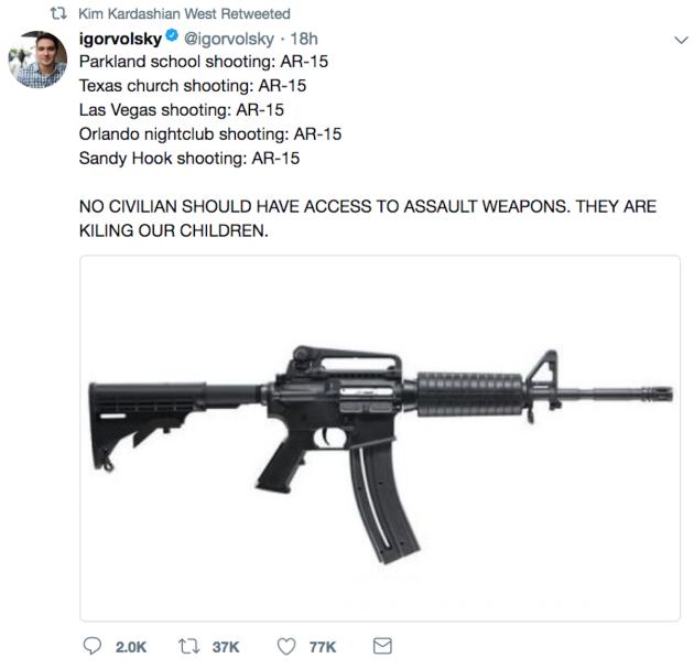 Kim Kardashian Calls For Gun Control In Wake Of Florida