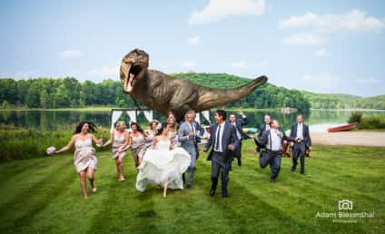 Jeff Goldblum Reenacts Jurassic Park at Friends' Wedding!