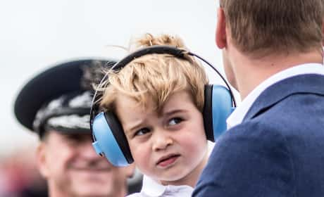 Prince George Ear Phones Pic