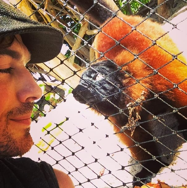 Ian Somerhalder and Lemur