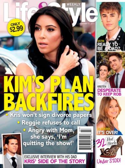 Kim Kardashian on Life & Style Kover