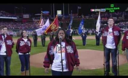 Glee Cast Sings National Anthem
