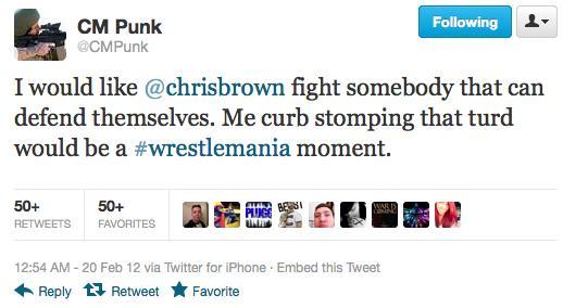 Brown Punk Ass Tweet