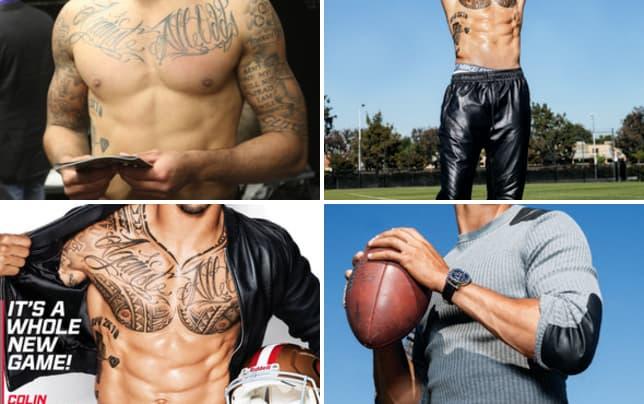 Colin kaepernick tattoos