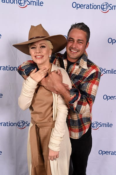 Lady gaga and taylor kinney attend celebrity ski and smile chall