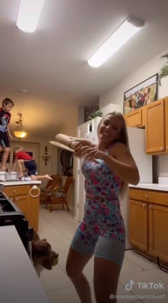 Mackenzie McKee IG lets kids walk on kitchen counters
