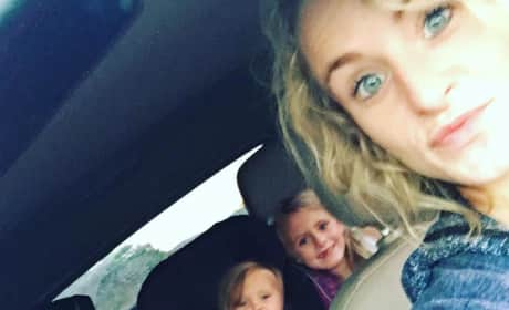 Leah Messer and Her Kids in the Car
