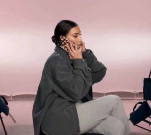 Kim Kardashian Has a Tense Discussion