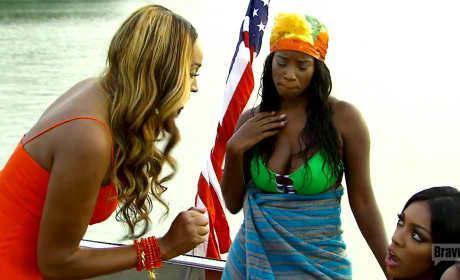 RHOA: Cynthia Bailey Flips Out on Porsha Williams!