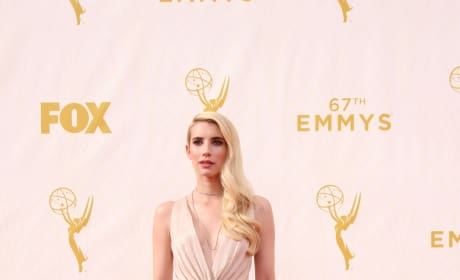 Emma Roberts at the 2015 Emmys