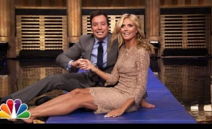 Jimmy Fallon Forms Human Wheel with Heidi Klum, Likely Looks Up Model's Dress