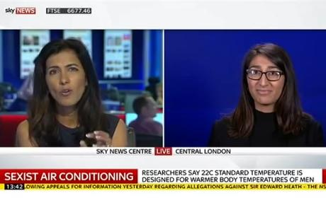 Why Office Air Conditioning Is Sexist is Actual Name of This News Report