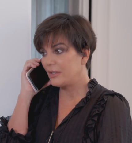Kris Jenner on the Phone