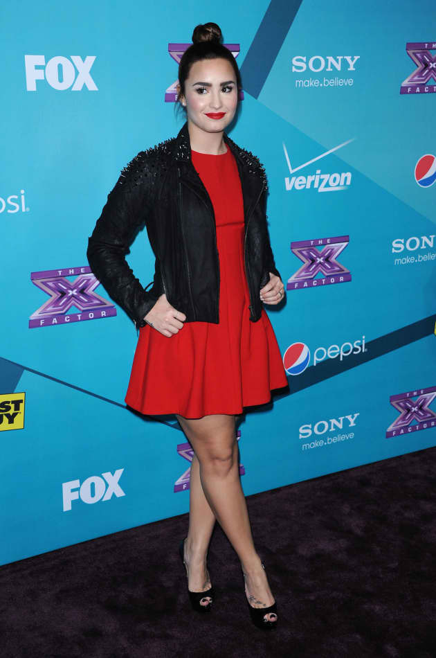 Demi Lovato at X Factor Party