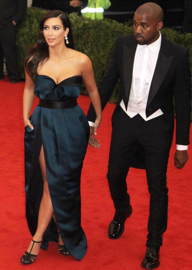 Kim and Kanye at the MET Gala