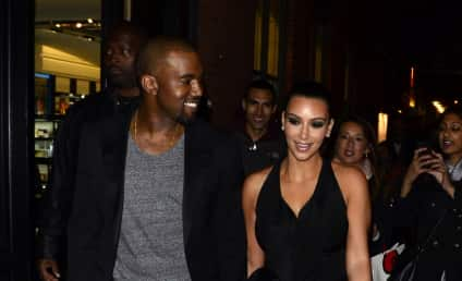 Kim Kardashian and Kanye West: Hand Holding Alert!