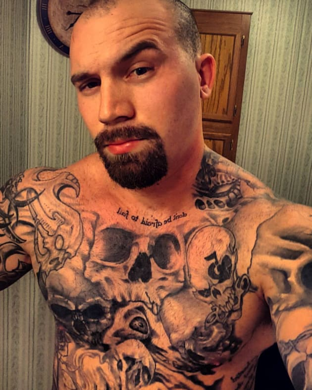 Adam Lind Shows Off His Tattoos