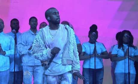 Kanye West Raps on SNL