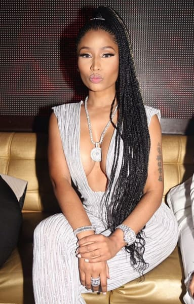 Nicki Minaj with Braids