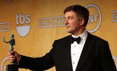 Alec Baldwin with a SAG Award