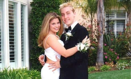 Danielle Fishel and Lance Bass Prom Photo
