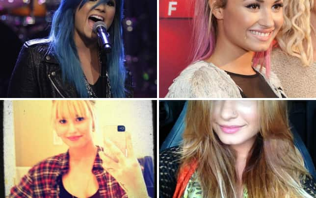 Demi lovato blue hair